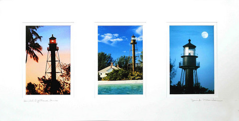 Triple Print Sanibel Lighthouse Series