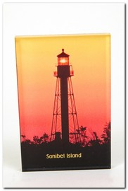Post Card Sanibel Island Lighthouse Silhouette