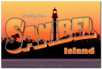 Greetings From Sanibel - Lighthouse