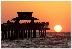 Naples Pier at Sunset
